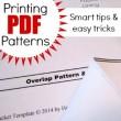 Printing PDF Patterns at home