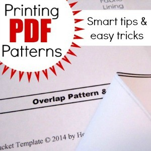 Printing PDF Patterns at home