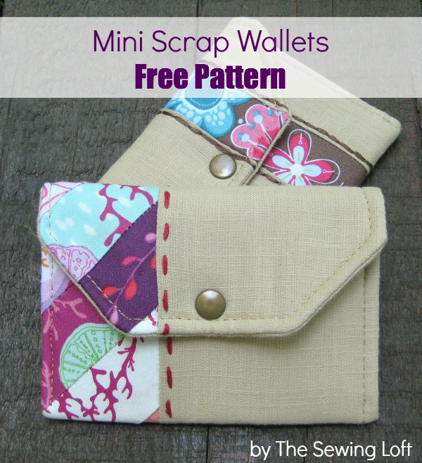 Mini Wallets - Scrap style - The Sewing Loft