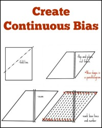 Learn how to create continuous bias on The Sewing Loft
