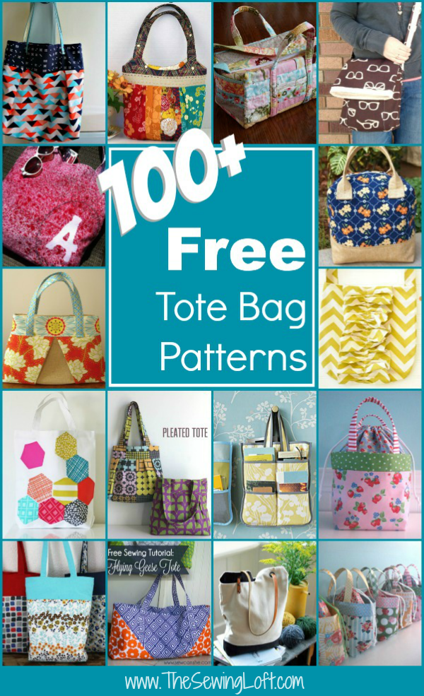 100+ Free Tote Bag Patterns | Round Up - The Sewing Loft