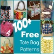 100+ Free Tote Bag Patterns