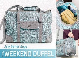 Learn How To Make This Weekend Duffel Bag With Video Class On Craftsy
