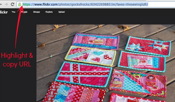 Make a Mosaic on Flickr for the Mini Quilt Mega Fun Swap.  The Sewing Loft