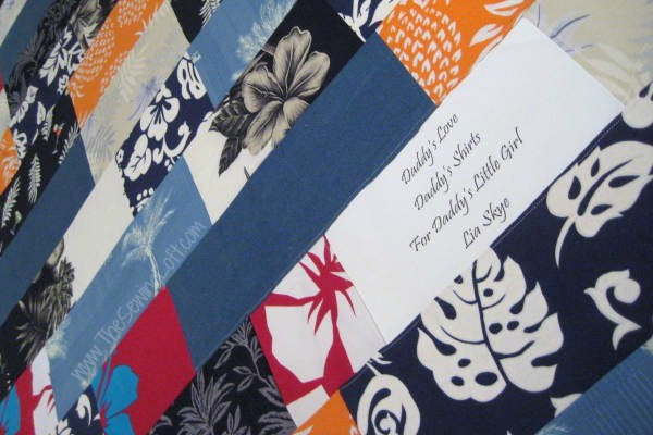 Create a label for your quilts. The Sewing Loft