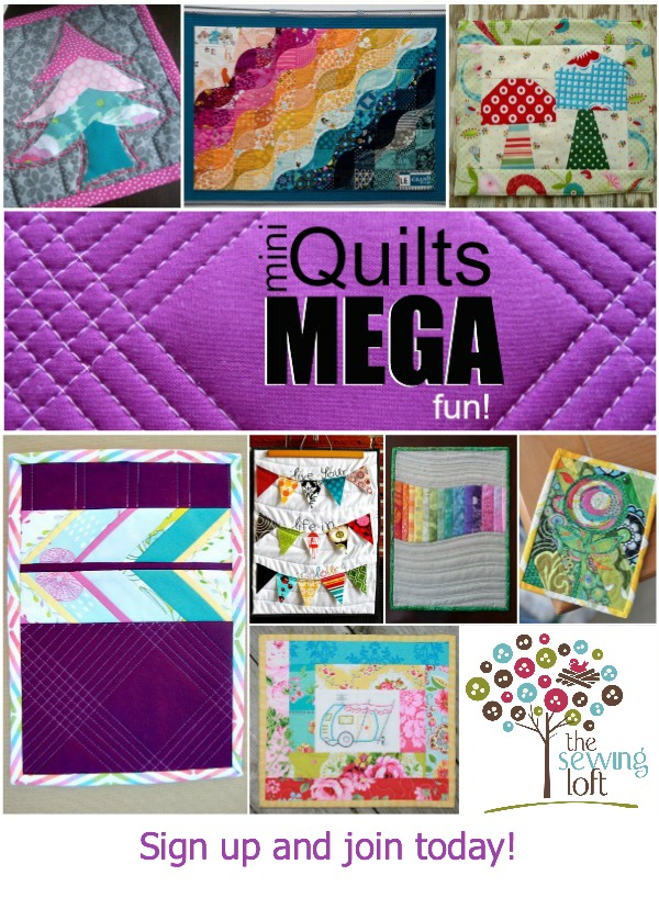 It's time to swap!  Mini quilts can be mega fun.  These smaller projects are perfect for trying out new techniques.  Join us for the swap.