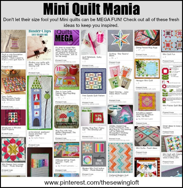 Inspirational project ideas for Mini Quilts.