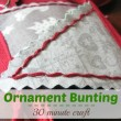 Easy Christmas Ornament Bunting