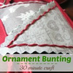 Get ready for the holidays with this easy to make ornament bunting.