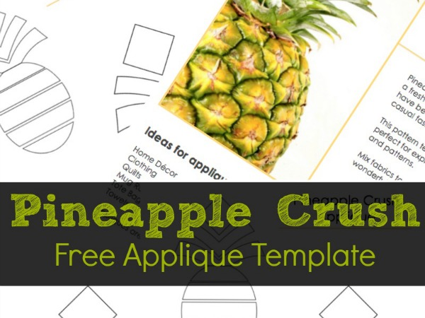 Free Pineapple Applique Template