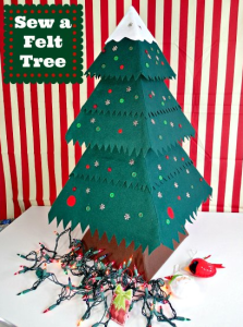 Felt Christmas Tree DIY with So Sew Easy