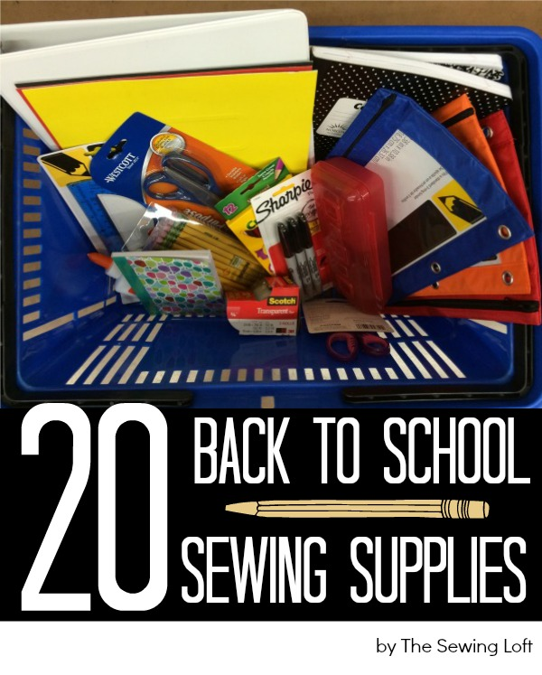 Back to school is the perfect time to stock up on sewing supplies. Print out this easy shopping list for your next trip.  The Sewing Loft