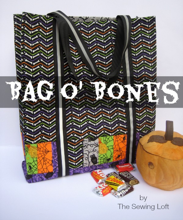 Easy to make Halloween Tote Bag Pattern by The Sewing Loft