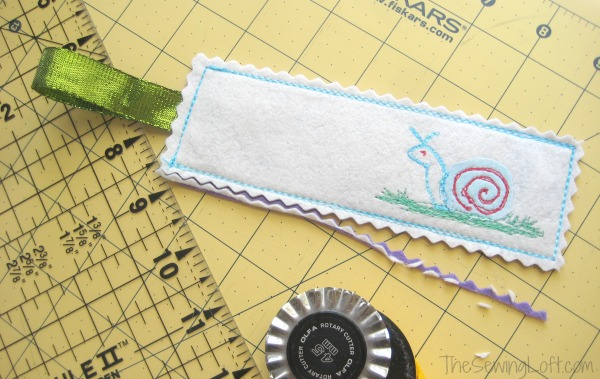 Easy Bookmark DIY. This is the perfect project for children to sew. The Sewing Loft
