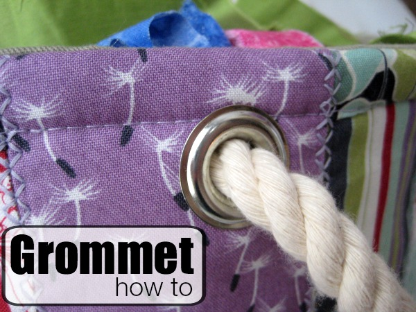 Learn how to install a grommet. The Sewing Loft