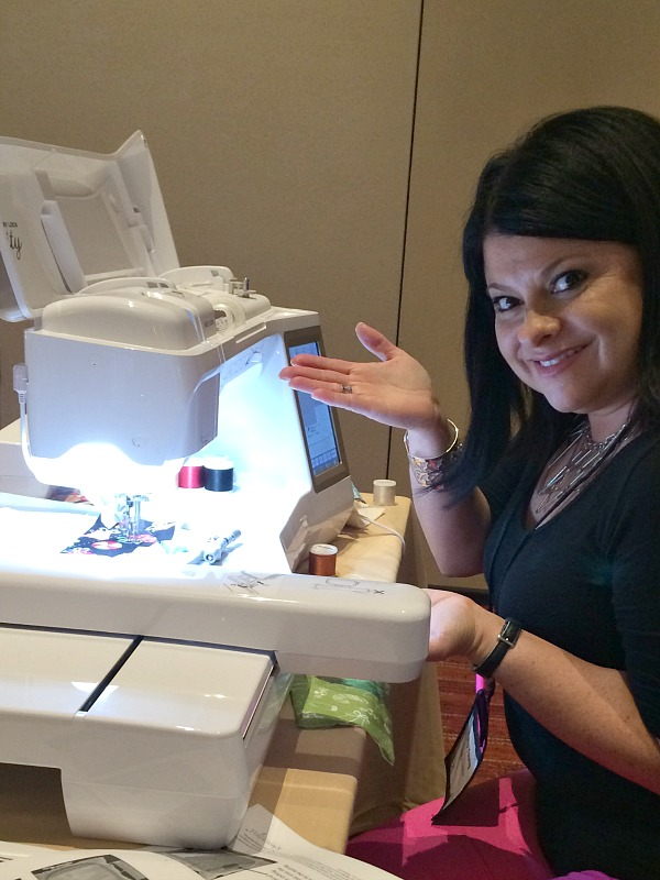 Patty and I had a blast stitching at the Baby Lock Tech Conference last month.  The Sewing Loft
