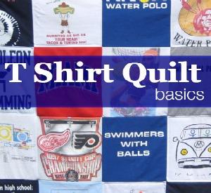 How to Make a Tee Shirt Quilt: Materials & Cutting