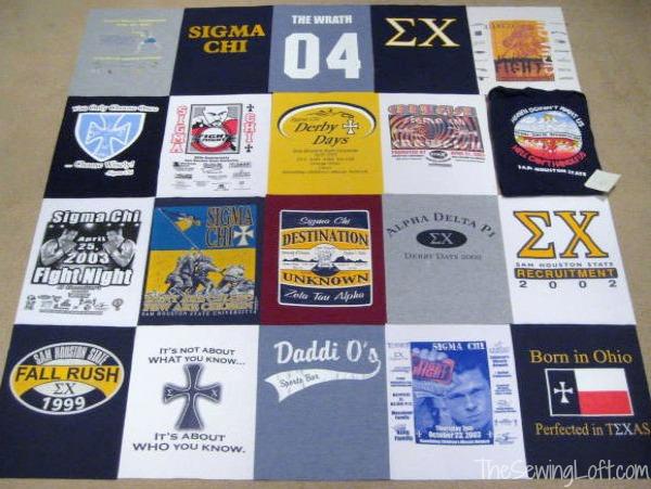 Make a T Shirt Quilt: Stitching - The Sewing Loft : t shirt quilt layout - Adamdwight.com