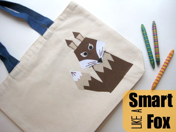 Keep your child excited about reading with this easy to make Smart like a Fox Book bag.  How to includes a free fox template.  The Sewing Loft