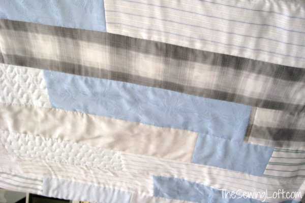 Learn how to turn those out worn clothing items into a one of a kind memory quilt.  The Sewing Loft