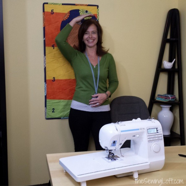 Taping adventures with Baby Lock. Fun projects are on the way! The Sewing Loft