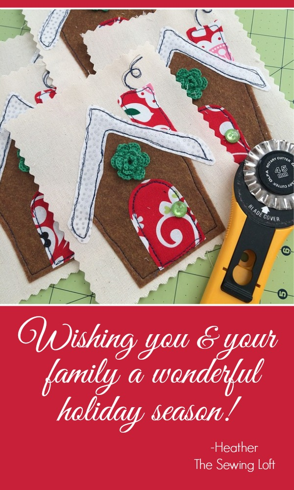 Christmas Greetings 2014 - The Sewing Loft