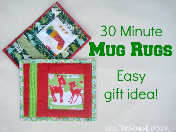 Holiday Mug Rug The Sewing Loft