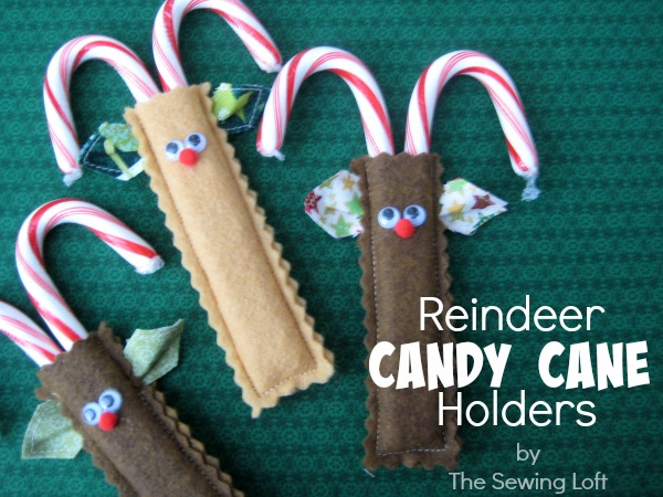 Reindeer Candy Cane Holders The Sewing Loft