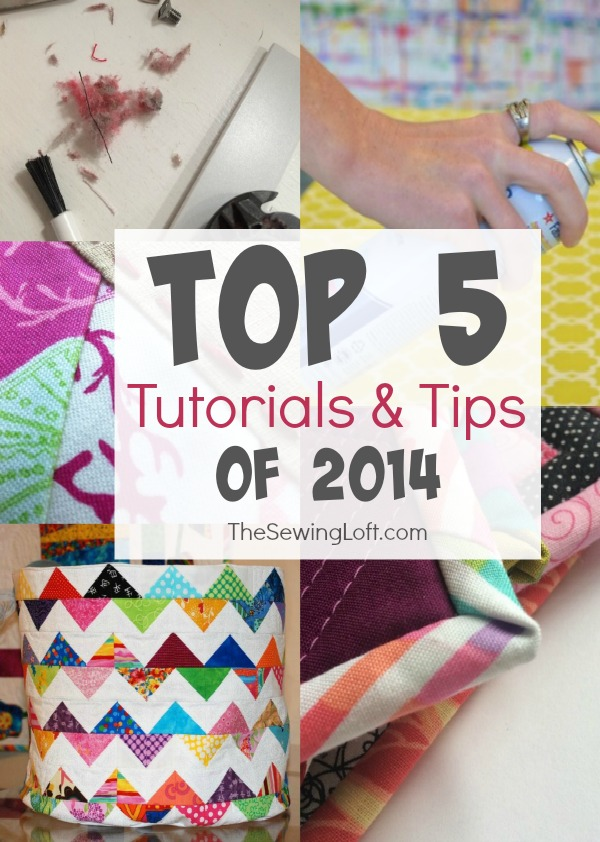 Top 5 Sewing Tutorials of 2014 on The Sewing Loft