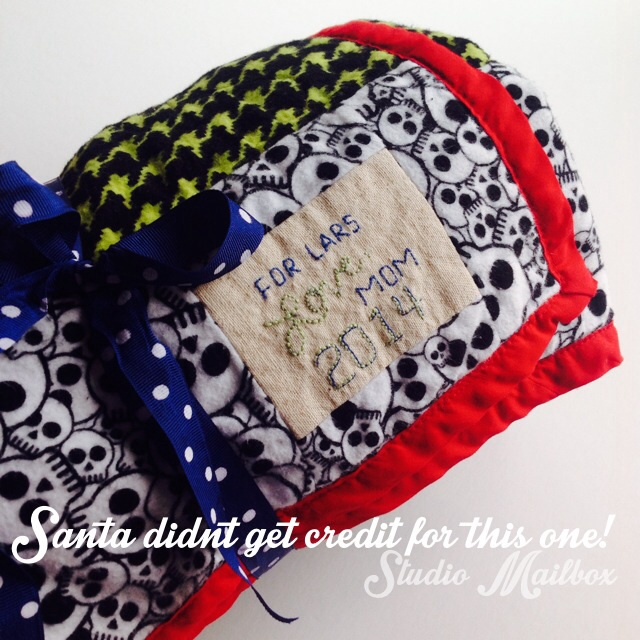 embroidered personalized quilt label