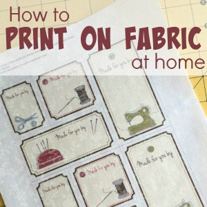 Printing on fabric at home
