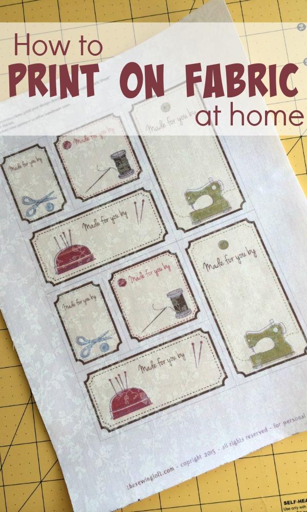 Learn how to print on fabric from your home computer. It is easier than you think. The Sewing Loft