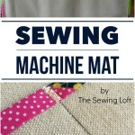 Use shelf paper to create a sewing machine mat. The Sewing Loft