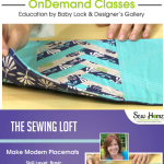 Learn how to make these modern placements with The Sewing Loft in this video class on Sew at Home.