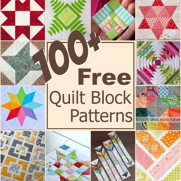 Keep Your Creative Juices Flowing With Over 100 Free Quilt Blocks Rounded Up In One Place