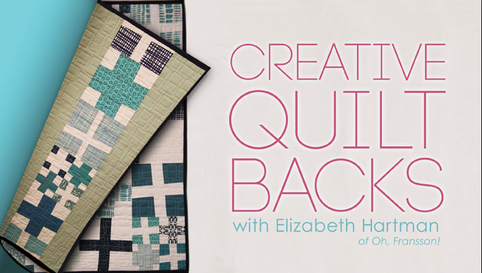 Creative Quilt Backs is one of many Free on line sewing classes at Craftsy