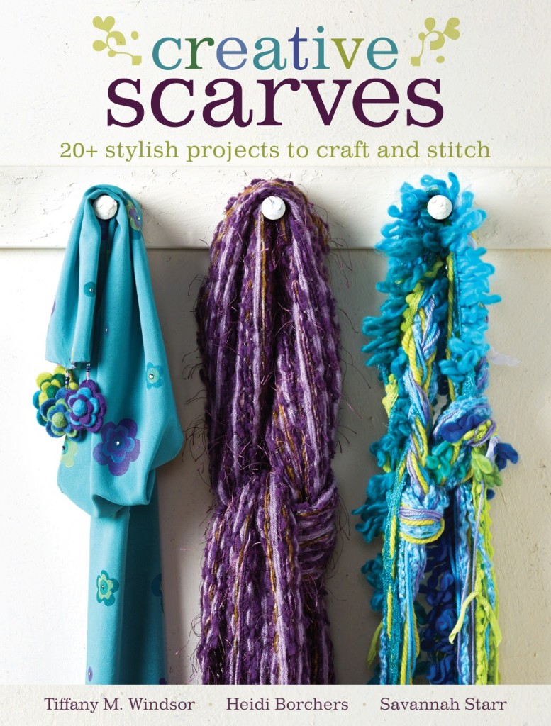 I'm so excited to be today's stop on the Creative Scarves book tour. This book will help you find your creative style and make your own scarves.