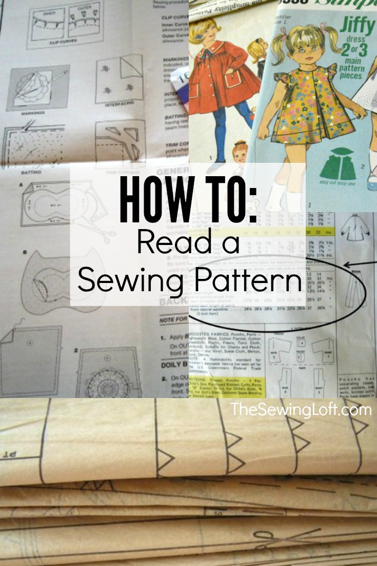 Learn how to read a sewing pattern with these easy steps. Each part is broken down into simple terms. The Sewing Loft