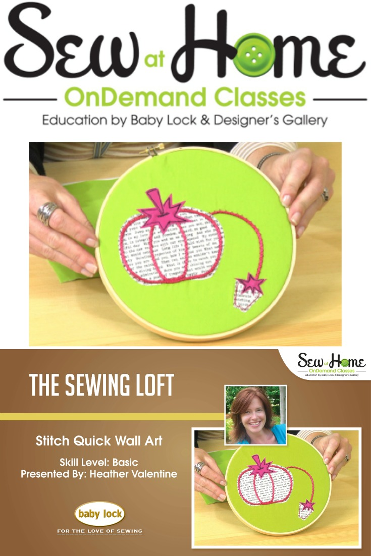 Pincushion Wall Art Video Class - The Sewing Loft