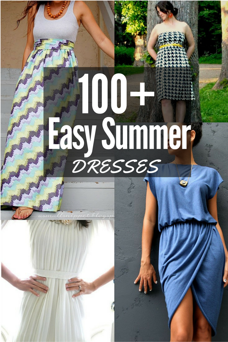 1931fed808a 100+ Easy Summer Dresses. Most of these patterns are easy to sew for any