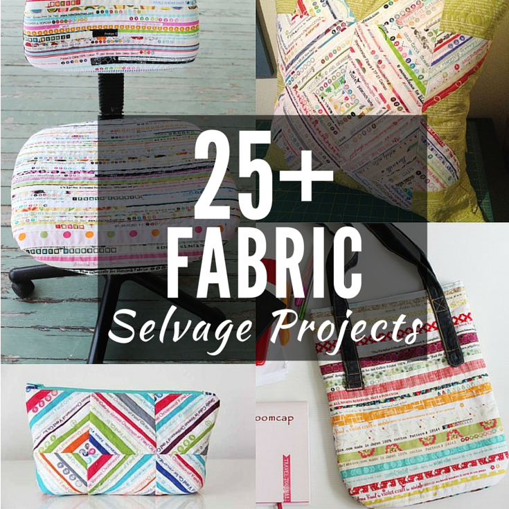 Ever looked at the edge of your fabric and think how pretty the markings are? Well, this list of 25+ Fabric Selvage Projects will make you wish you've saved them. The Sewing Loft