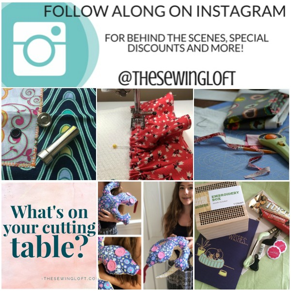 Did you know The Sewing Loft is on Instagram? You can follow along for inside sneak peeks, special discounts and more.  @TheSewingLoft