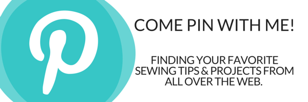 Have you noticed The Sewing Loft on Pinterest?  They are pinning some of the best projects and sewing tips found on the web today. Be sure to follow along and pin to your boards. https://www.pinterest.com/thesewingloft/