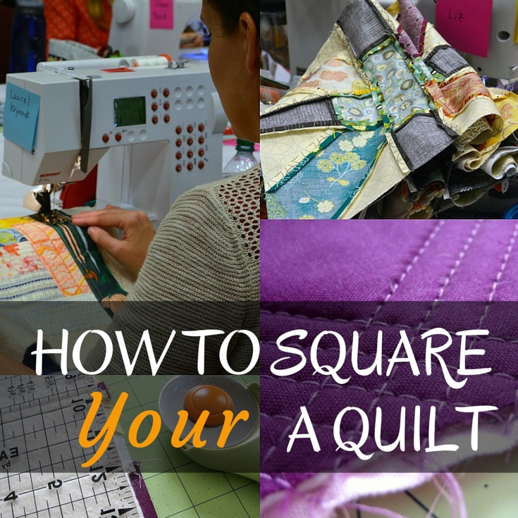 It is important to square a quilt before starting the preparation for long-arm and free motion stitching. Learn how to square any size quilt topper. The Sewing Loft