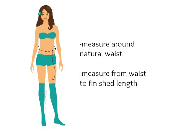 Take a few quick measurements before you start your picture perfect skirt. The Sewing Loft