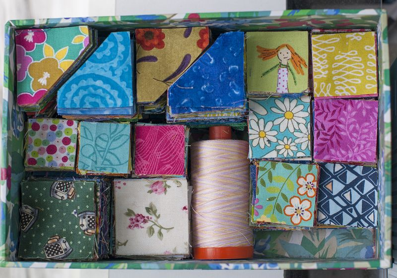 National Sewing Month 2015 is all about fabric scraps and I'm celebrating with The Sewing Loft. Today, Lynn from The Little Red Hen is sharing a fantastic tip on how to die cut scraps and savor every last inch!