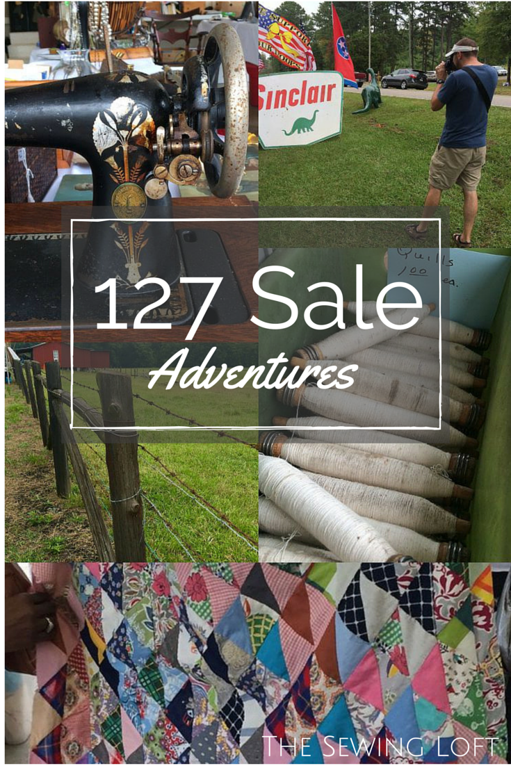 We found some amazing sewing treasures on the 127 Sale. The Sewing Loft