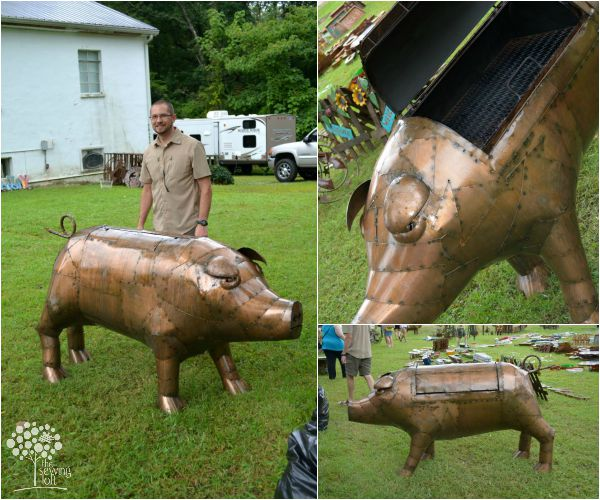 Welded pig grill found on the 127 sale.