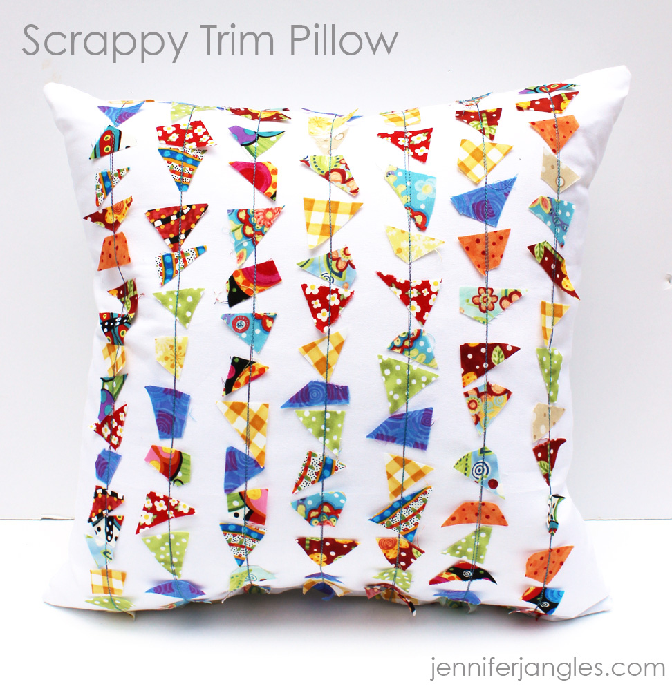 National Sewing Month 2015 is all about the scraps! Jennifer Jangles shares her Scrappy Trip Pillow project. The Sewing Loft