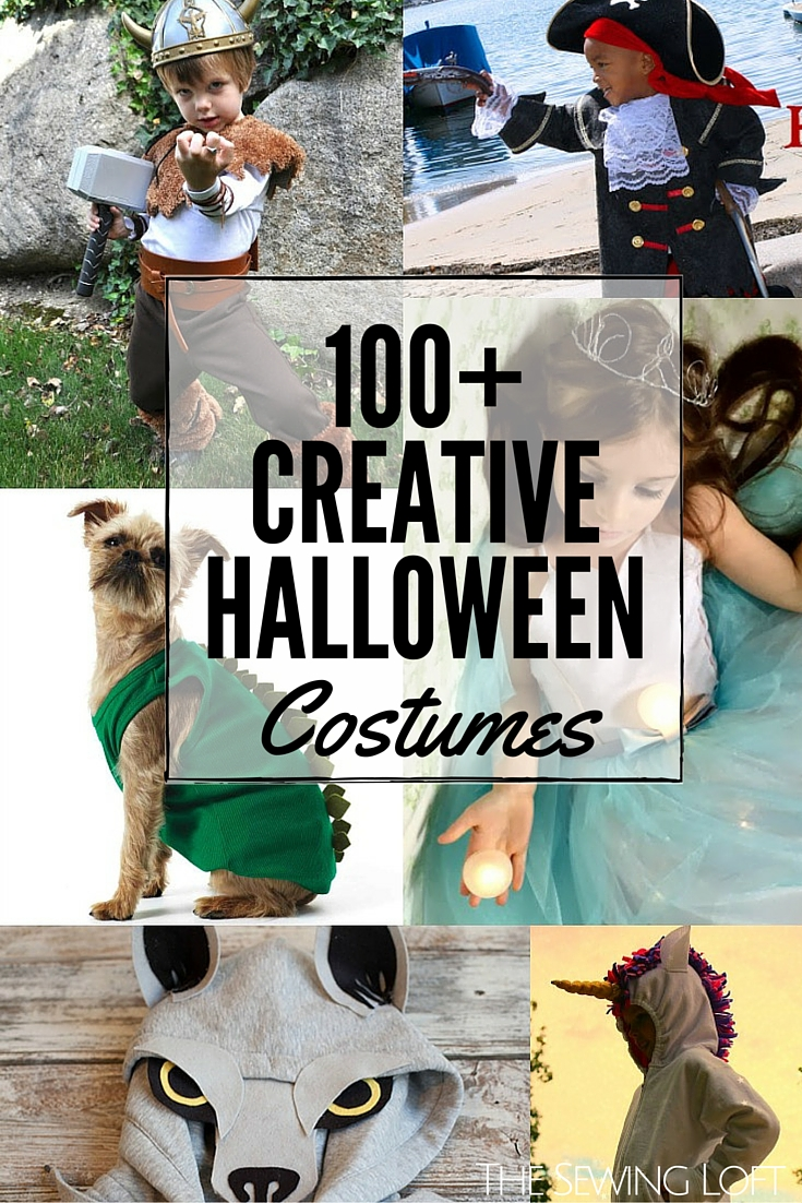 100+ Cool DIY Halloween Costumes for everyone in your family. Rounded Up in one place. The Sewing Loft